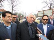 حضور مقامات کشور آذربایجان در گیلان برای شرکت در مراسم افتتاح راه آهن