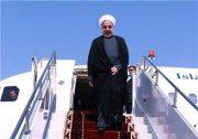 هواپیمای حامل رئیس جمهور در فرودگاه رشت به زمین نشست