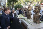 گلباران محل شهادت شهیدان انصاری و نورانی در رشت