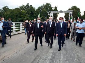 بازدید وزیر راه و شهرسازی از بارانداز راهآهن و پل ریلی آستارا