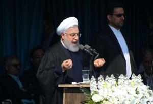 سخنرانی رئیس جمهور در ورزشگاه تختی لاهیجان